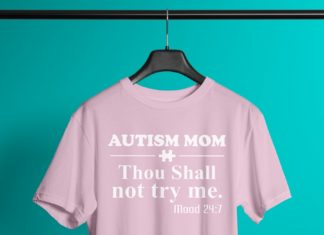 Autism Mom Thou shall not try me mood 24:7 shirt