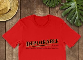 Deplorable a hardworking tax paying patriotic America shirt