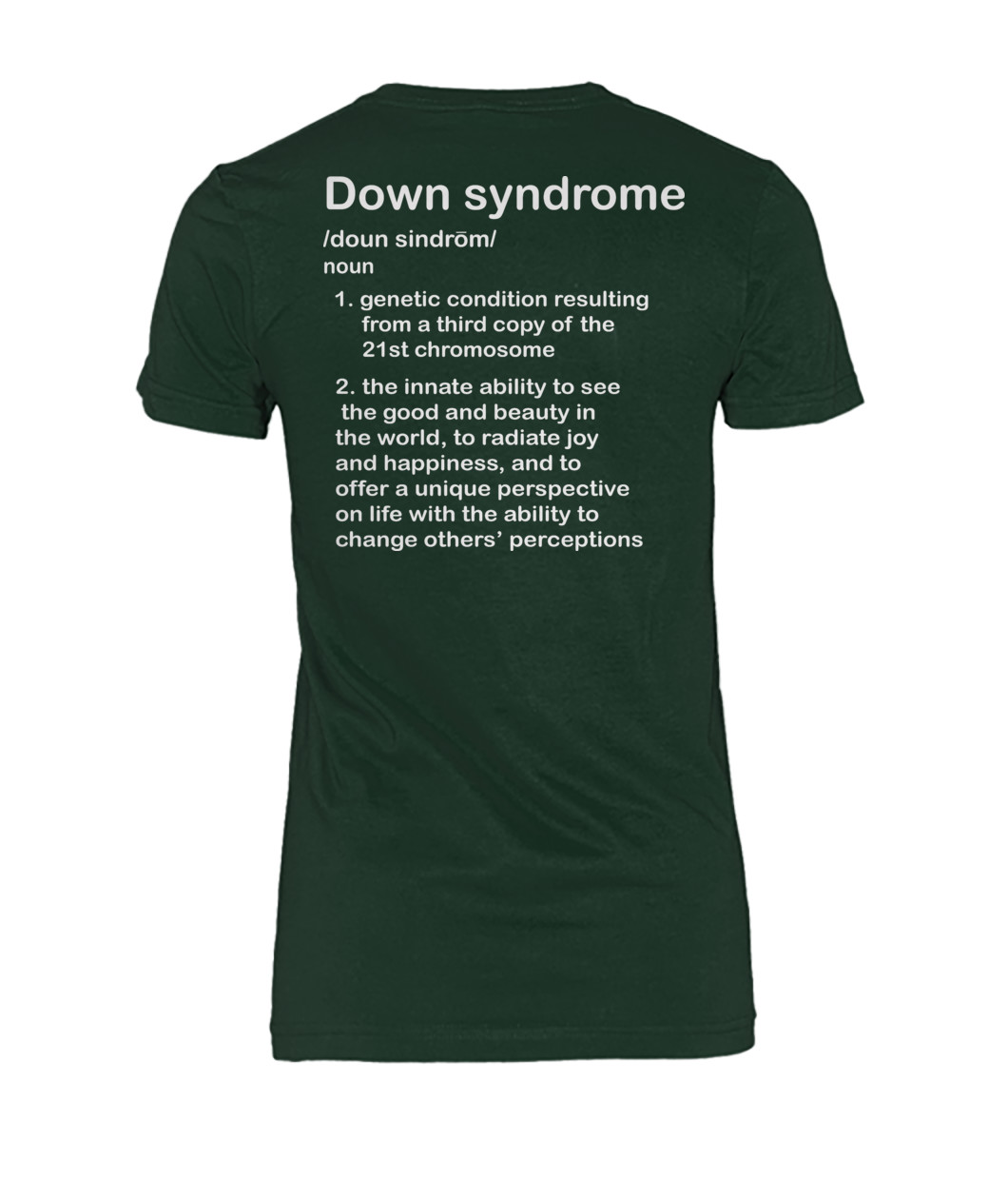 Down Syndrome awareness definition women shirt
