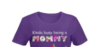 Kinda busyKinda busy being a mommy shark floral T-Shirt being a mommy shark floral Ladies T-Shirt