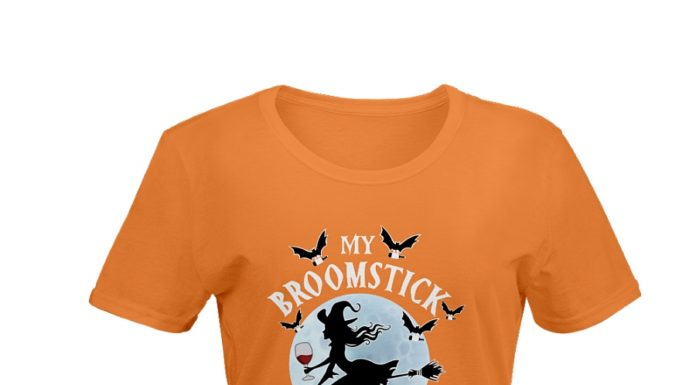 My broomstick runs on wine shirt