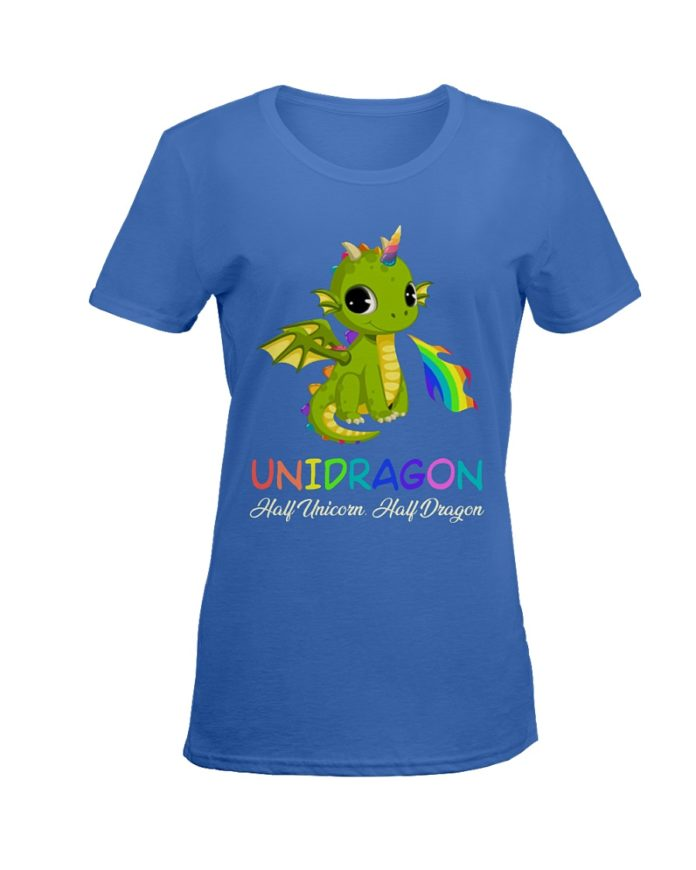 Unigragon half unicorn half dragon shirt