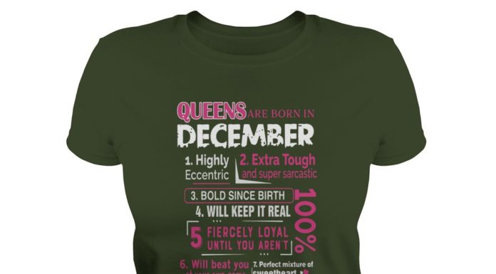 10 reasons Queens are born in December shirt