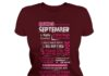 10 reasons Queens are born in September shirt