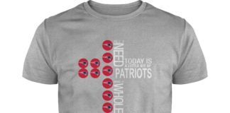 All I need today is a little bit of Patriots and a whole lot of Jesus shirt