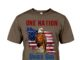 America eagle one nation under god shirt