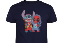 Baby deadpool and stitch shirt