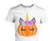 Bargains pumpkin Unicorn women shirt
