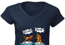 Battle mama saurus mama bear mama shark doo doo doo women v-neck shirt