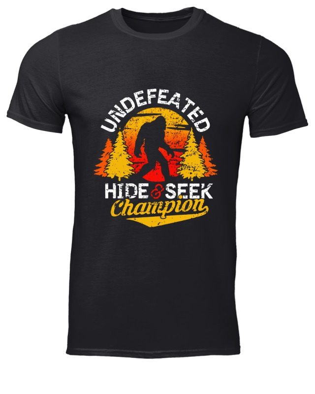 Bigfoot - Undefeated Hide and Seek Champion classic men shirt