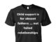 Child support is for absent fathers unisex shirt