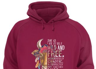 Cow she is life itself wild and free wonderfully chaotic a perfectly put together mess unisex hoodie