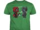 Deadpool and Black Panther bad kitty shirt guy tee - Bad kitty Deadpool and Black Panther shirt