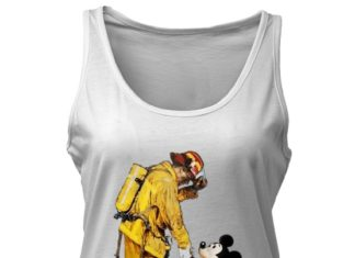 Firefighter With Mickey Mouse shirt