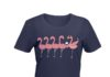 Flamingo drink wine shirt