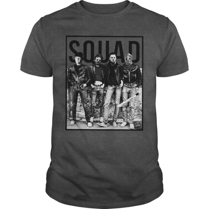 Freddy Jason Michael Myers Leatherface Squad shirt