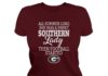 Georgia football all summer long she was a sweet southern lady shirt