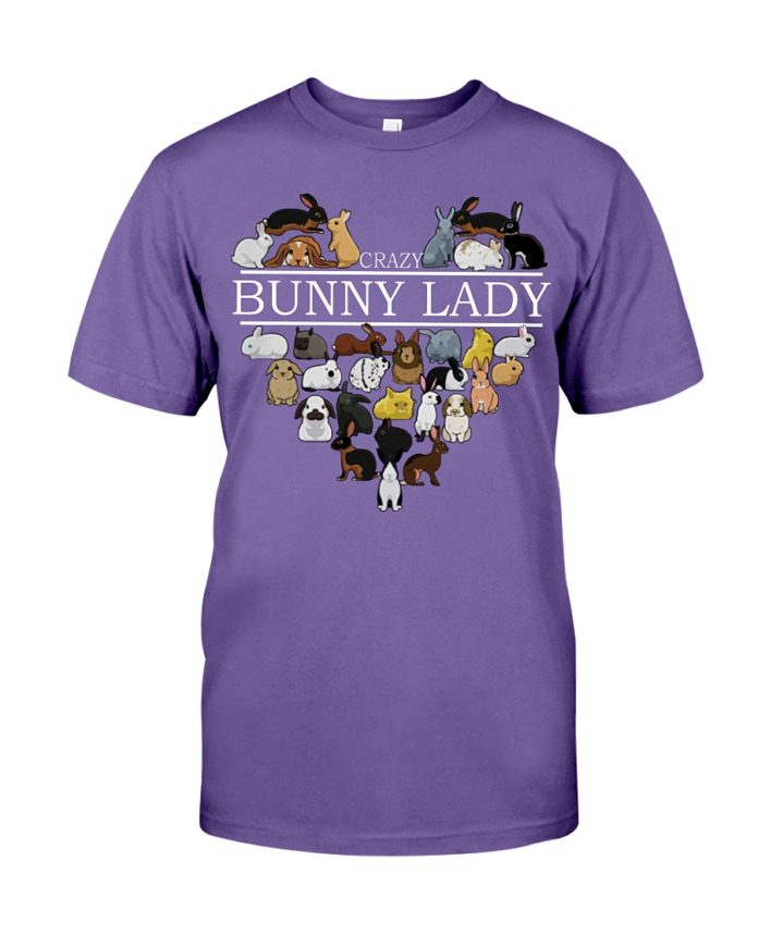 Heart crazy bunny lady shirt