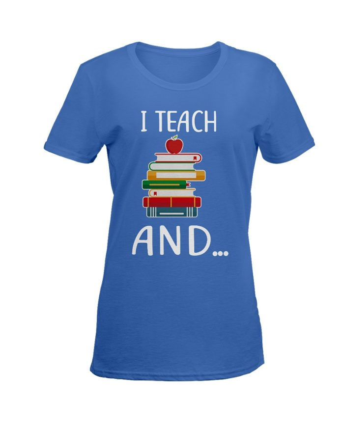 I teach an apple and books and I'm watching you shirt
