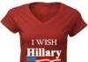 I wish Hillary had married OJ women v-neck shirt
