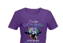 I'm the crazy heifer everyone warned you about floral shirt