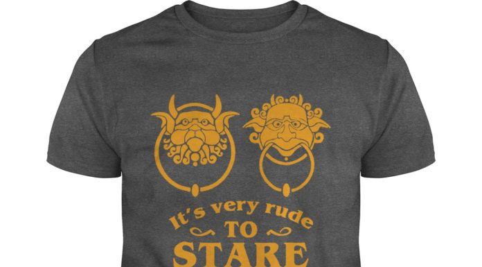 It's very rude to stare Labyrinth door knocker shirt