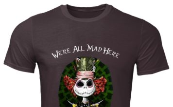 Jack Skellington -We're All Mad Here Mad Hatter classic men shirt