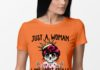 Just a woman who loves skulls and has tattoos shirt