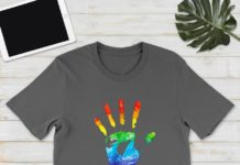 LGBT hand this is brave this is bruised shirt