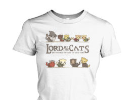 Lord of the Cats the furrllowship of the ring shirt