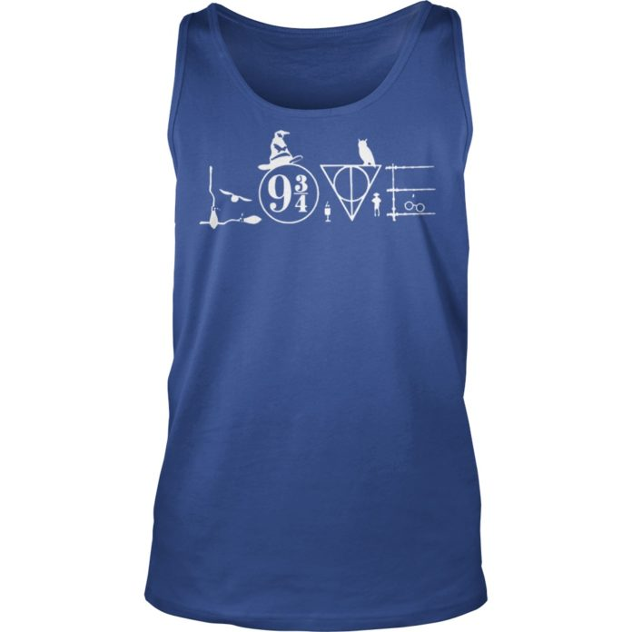 Love Harry Potter witch hat shirt unisex tank top