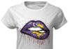 Minnessota Vikings love glitter lips shirt