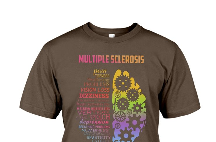 Multiple sclerosis pain tremors swallowing problems yes it's all in my head shirt