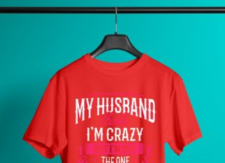 My husband think I'm crazy but I'm not the one who married me shirt