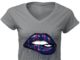 New york giants love glitter lips shirt
