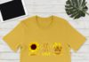 Peace love dogs hippie sunflower shirt