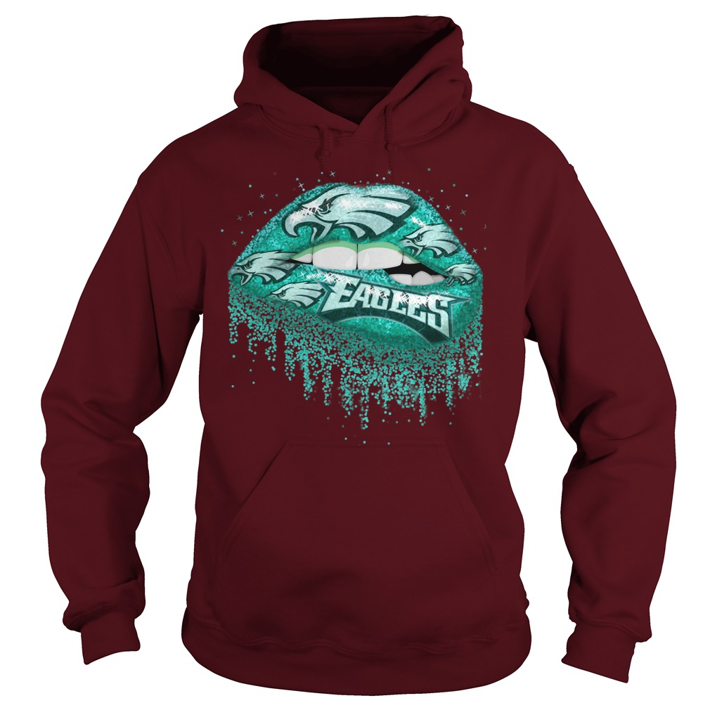 Philadelphia Eagles love glitter lips shirt hoodie