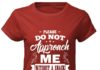 Please do not approach me without a snack offering classic women shirt