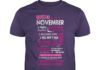 Queens are born in November 10 reasons shirt guy tee