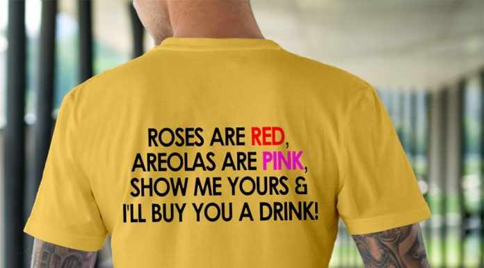 Roses Are Red Areolas Are Pink Show Me Yours Buy You A Drink shirt