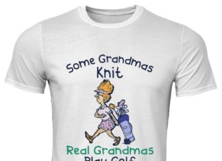 Some grandmas knit real grandmas play golf classic men shirt