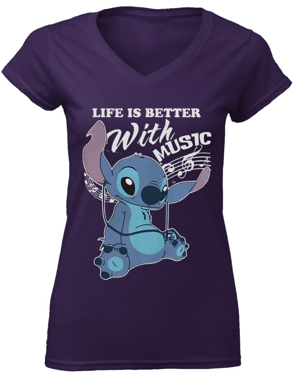 Stitch - Life Is Better With Music shirt