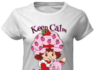 Strawberry shortcake keep calm and berry on classic women shirt