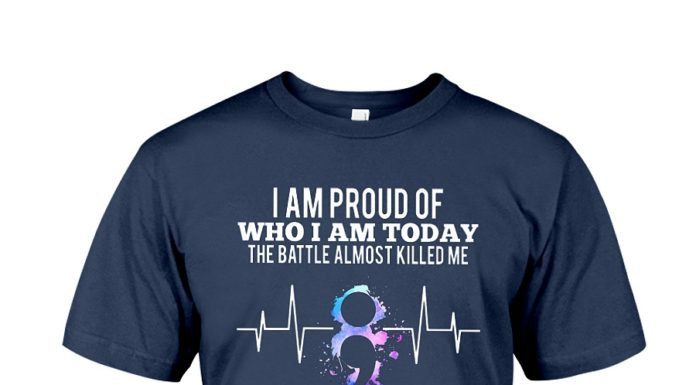 Suicide Awareness angel I am proud of who I am today the battle almost killed me shirt