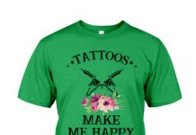 Tattoos make me happy humans make my head hurt shirt