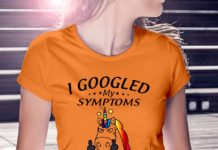 Unicorn I googled my symptoms turns out I'm a bitch shirt
