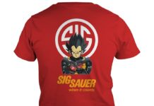 Vegeta Sig Sauer when it counts shirt