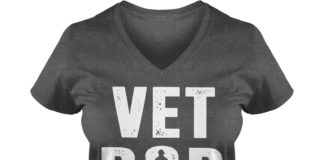 Vet Bod like Dad Bod but with more knee pain shirt lady v-neck