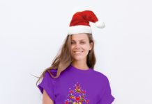 Wine glass Christmas tree shirta