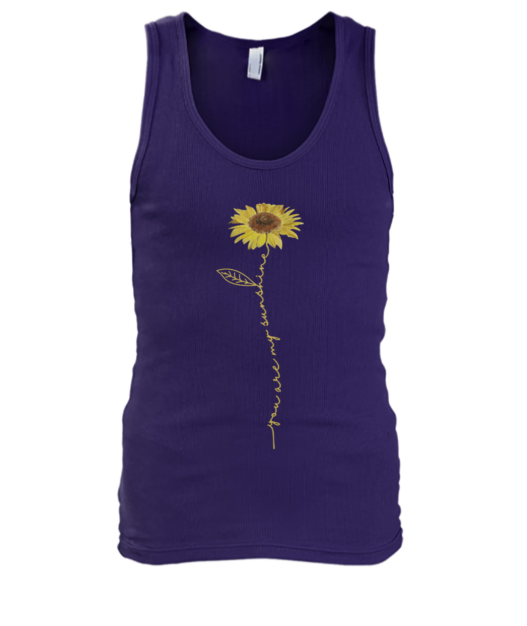 You are My Sunshine flower tank top